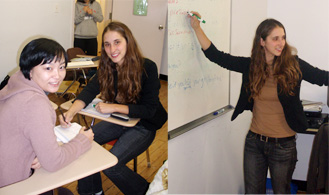 English courses, woman teaching